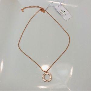 Kate Spade Rose Gold circle pendant necklace